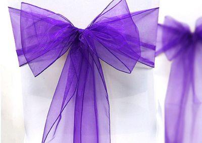 Location nœud organza violet: 0.50 € TTC