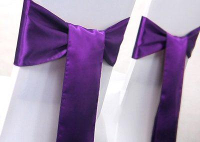 Location nœud satin violet : 0.70 € TTC