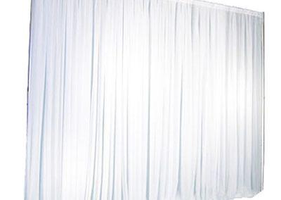 Location structure avec rideau blanc : 60€