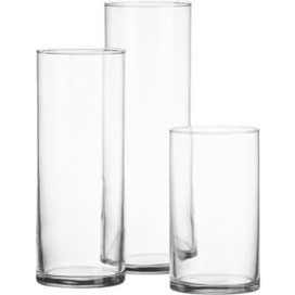 Vases trio cylindriques : 6€