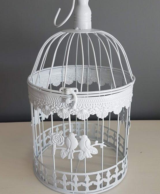 Loc Cage à oiseaux métal blanc : 5 €